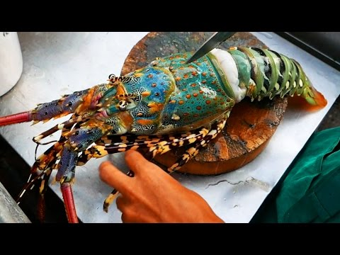Thailand Street Food - The BIGGEST RAINBOW LOBSTER Cooked with Butter & Cheese