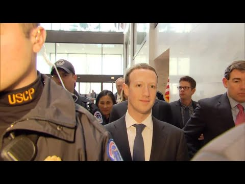 Mark Zuckerberg facing tough questions in Congress