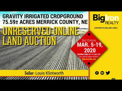 Land Auction 75.59+/- Acres Merrick County, NE