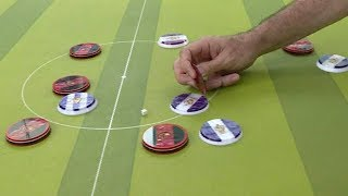 Buttons fly in Brazilian table top football game