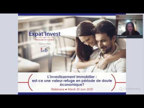 En partenariat avec l'Union des Français de l'Etranger – L'investissement immobilier : une valeur refuge en période de doute économique (Juin 2020)