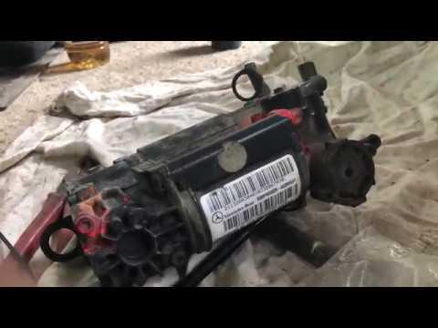 Mercedes W211 AirMatic Compressor Installation part 2 - смотреть