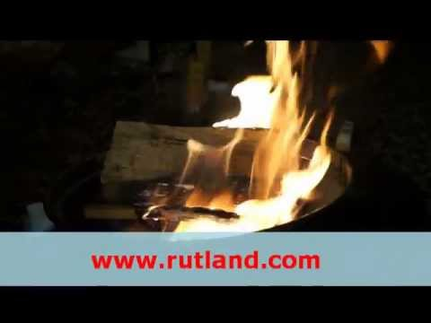 How to light a fire using Rutland One Match Gelled Fire Starter