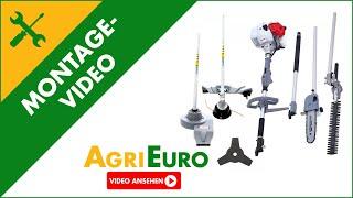 Montagevideo Multitool Rasentrimmer 5in1 mit Hochentaster und Heckenschere IKRA IBKH 52