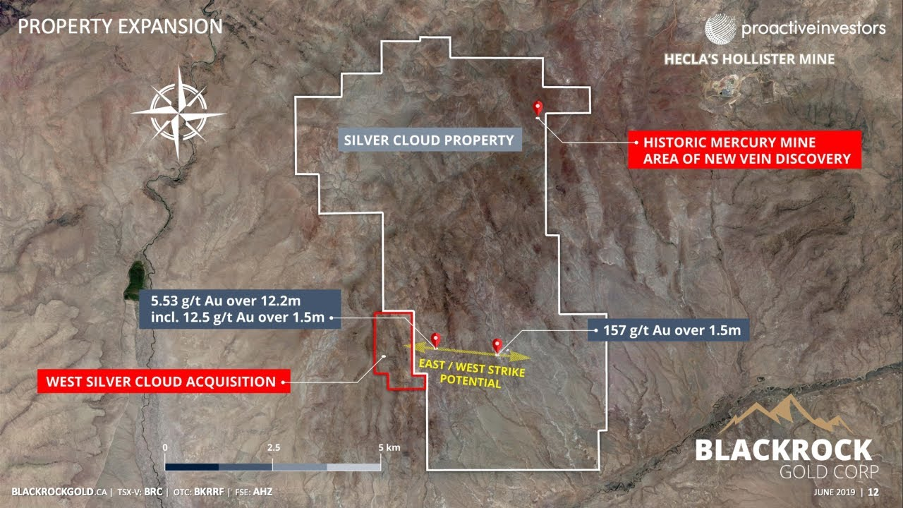 BLACKROCK GOLD FINDS NEW EAST-WEST VEIN SYSTEM AT SILVER CLOUD PROJECT IN NEVADA