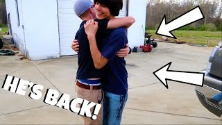 BEST FRIEND COMES BACK FROM BOOT CAMP!?