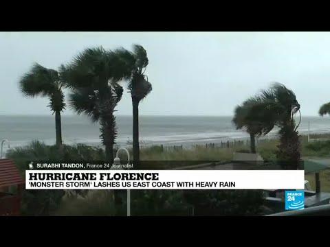 Hurricane Florence lashes US East Coast with heavy rain