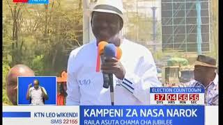 Kampeni za NASA Narok: Raila asuta chama cha Jubilee