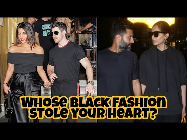 Priyanka Chopra Nick Jonas VS Sonam Kapoor Anand Ahuja In Black  | Who Looked Best?