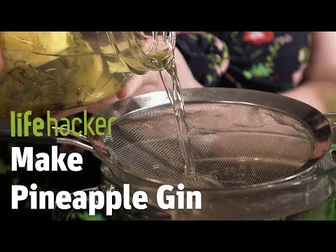 Make A Tropical Gin Out Of Pineapple Peels