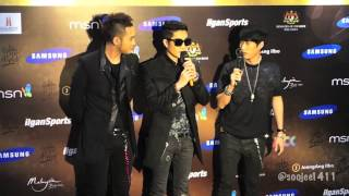 Epik High entering media center + greeting (GDA interview)