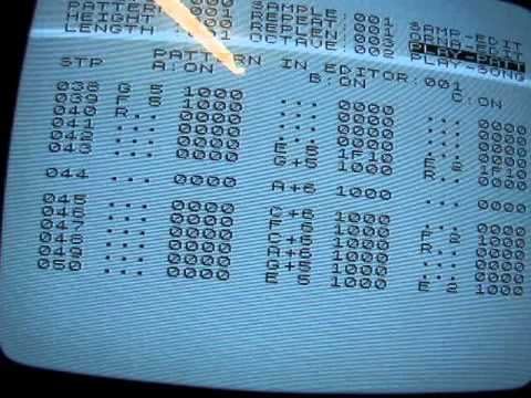 soundtracker on ZX81 for ZON-X sound board