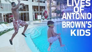 A Day in the Life of Antonio Brown's Kids   NFL Rush