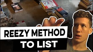 Using the REEZY METHOD to list books fast and organized