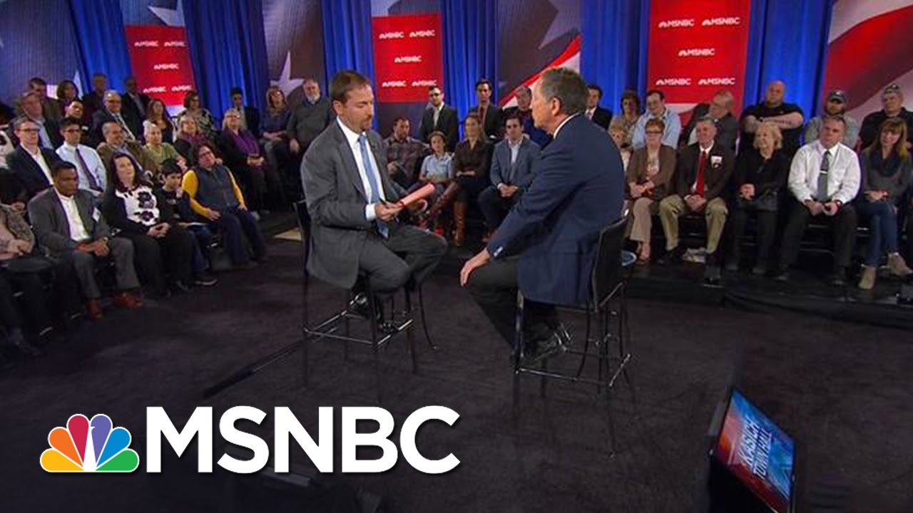 Chuck Todd Welcomes Audience At John Kasich Town Hall: 360 Video | MSNBC thumbnail