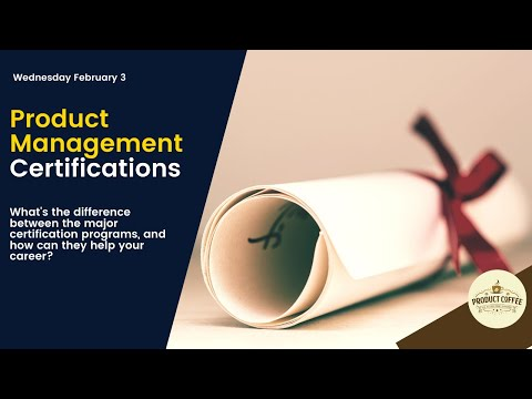 Product Coffee - Product Management Certifications - YouTube