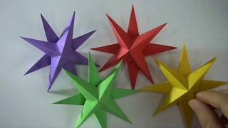 How To Make An Star With Paper || Art Activities For Kids