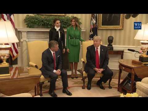 President Trump Meets with King Abdullah II