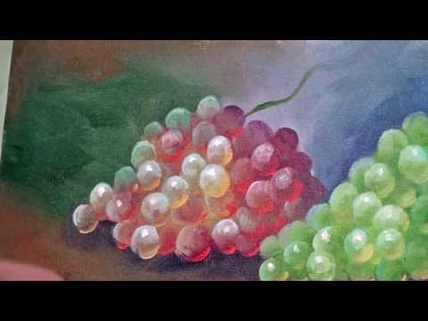 Como pintar uvas um poucochinho de tudo - Como pintar sobre tela ...