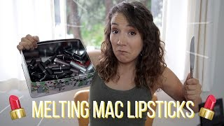 Melting Together All My Lipsticks I HATE | MAC, Dolce and Gabbana, Rimmel, Maybelline, etc. - Video Youtube