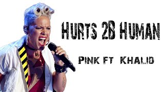 Pink Ft. Khalid    Hurts 2B Human [ Lyrics ]