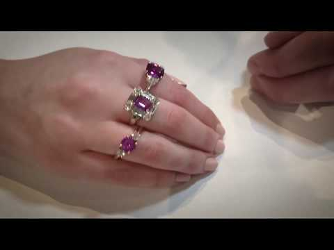 Pink engagement rings by Hirsh LONDON