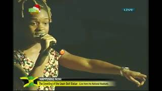 "Koffee Sings ""Legend"" To Usain Bolt"
