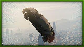 GTA 5 Funny Moments - Insane Moon Gravity Stunt! - ( GTA V Stunts & Fails )