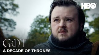 A Decade of Game of Thrones | John Bradley on Samwell Tarly (HBO)