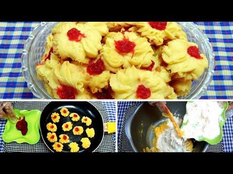 Video Cara Membuat Kue Semprit Menggunakan Teflon Tanpa Mixer