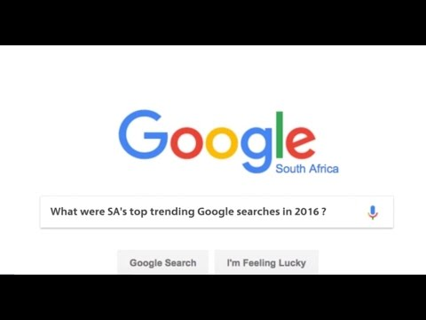 These were South Africa's top Google searches in 2016
