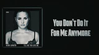 Demi Lovato - You Don't Do It For Me Anymore (Slow Version)