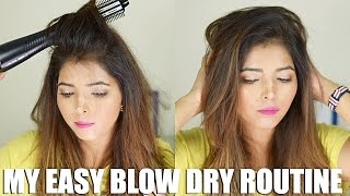 QUICK & EASY BLOW DRY ROUTINE FOR MY HAIR   BRAUN SATIN HAIR 7