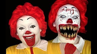 TWISTED RONALD MCDONALD CLOWN MAKEUP TUTORIAL!