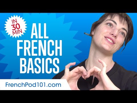 Learn French in 30 Minutes - ALL Basics Every Beginners Need ...