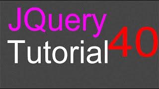 jQuery Tutorial for Beginners - 40 - Menu options