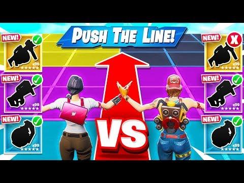 PUSH the LINE w/ Ssundee & Crainer - Fortnite Battle Royale