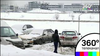 Выпавший снег сказывается на дорожной обстановке