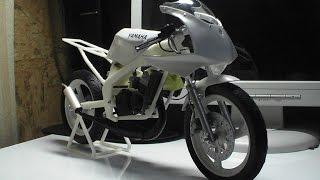3DプリンターでリアルなヤマハTZ50の模型を作る!