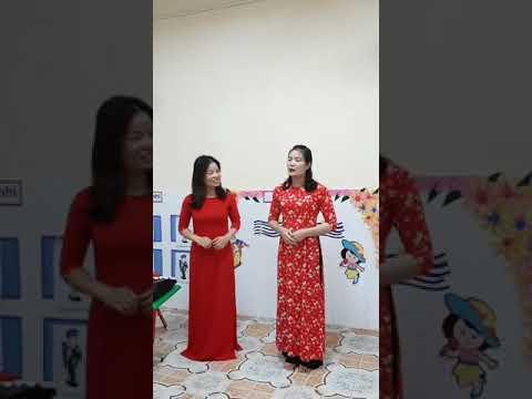 Hướng dẫn vận động Bài: Múa cho mẹ xem do cô Đào Thị Dinh Và Nguyễn Thị hạnh giáo viên Khối 3 tuổi thực hiện