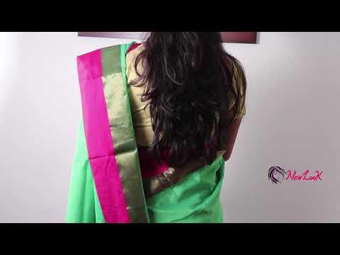 How to wear Gadhwal Soft Silk Saree perfectly - 2019