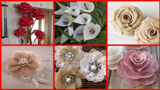 100 DIY Burlap Flowers Ideas || Burlap Fabric Flower || Burlap Flowers Decoration