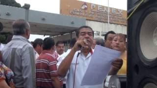 preview picture of video 'Protestan contra el CPG-PEMEX en Poza Rica'