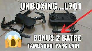 BARU ..!! UNBOXING DRONE L701 KAMERA 720p HD wifi fpv ( indoor )