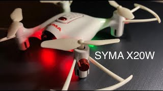 SYMA X20W Indoor FPV Drone Unboxing and Flight Test