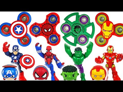 Dinosaurs are coming! Marvel Avengers Hulk, Spider-Man! Transform using fidget spinner! - DuDuPopTOY