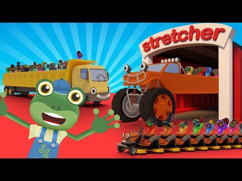 Gecko's Truck Stretching Machine! | Gecko's Garage | Truck Cartoons For Children