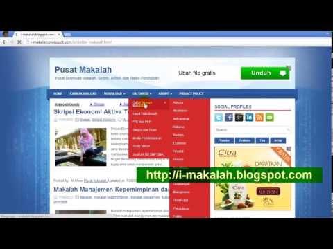 Contoh Makalah Skripsi Tesis Download Gratis