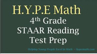 4th Grade Reading Comprehension: STAAR Reading Workbook Story #1
