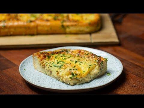 Sheet Pan Tartiflette Stuffed Garlic Bread Recipe